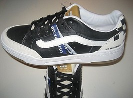 Vans Mens Highland Construct Black White Leather Skate shoes Size 6.5 NWT   - $54.44