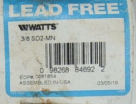 Watts Lead Free 3/8 Inch Dual Check Valve Carbonated Beverage Machines image 4
