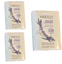 Yardley English Lavender Collection Luxury Soap 3.5 Oz Lavender Vegan Lo... - $11.83