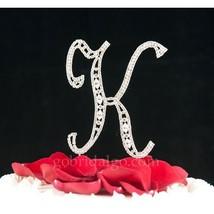 Swarovski Crystal Monogram Cake Topper Vintage Style  Letter K - $15.52
