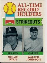 Nolan Ryan Walter Johnson 1979 Topps Baseball Card #417 California Angel... - $2.00