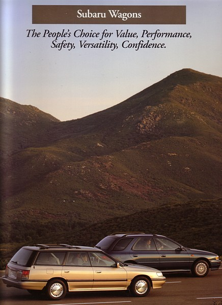 1993 Subaru WAGONS brochure catalog US 93 LEGACY LOYALE