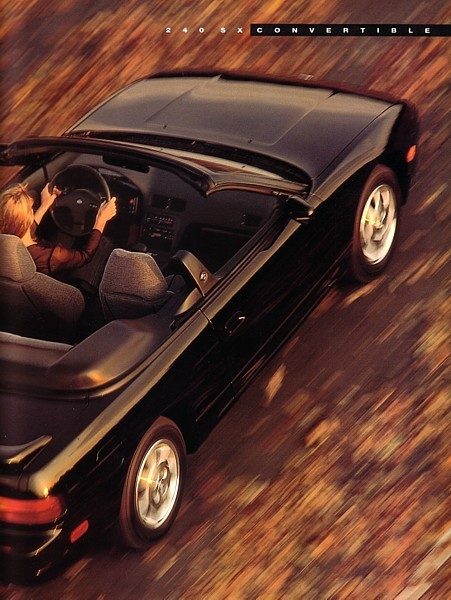 1992 Nissan 240SX CONVERTIBLE brochure catalog US 92 Silvia