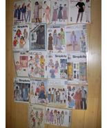 Lot 17 Ladies & Unisex Sewing Patterns Skirts T... - $18.29