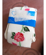 Children's Place TIGHTS, size 8-10,NIP, beige w/ roses - $2.50