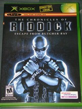 XBOX- THE CHRONICLES OF RIDDICK ESCAPE FROM BUTCHER BAY (Complete with M... - $10.00