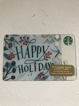 Starbucks Gift Card - NEW - HAPPY HOLIDAYS 2016 - $1.45