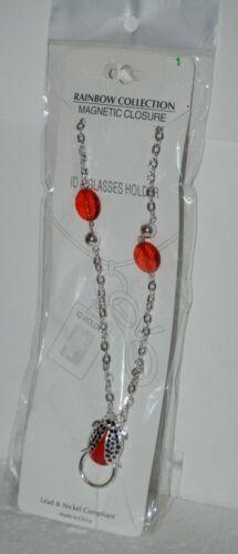 Rainbow Collection Ladybug Design ID Glasses Holder Magnetic Closure