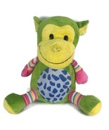 "KELLYTOY Green Stuffed Monkey Plush Striped Textured Detail 15"" Chimp No... - $29.69"