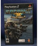 SOCOM II: U.S. Navy SEALs (Sony PlayStation 2, 2003) PS2 Complete - $5.67