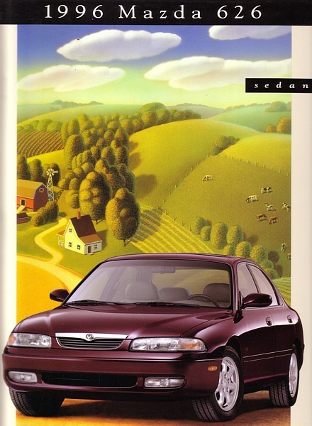 1996 Mazda 626 sales brochure catalog US 96 LX ES V6