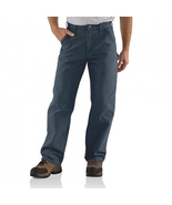 b11 Carhartt work pants Men's Cotton Duck Carpenter  B11ptb 33x36 prewas... - $37.99