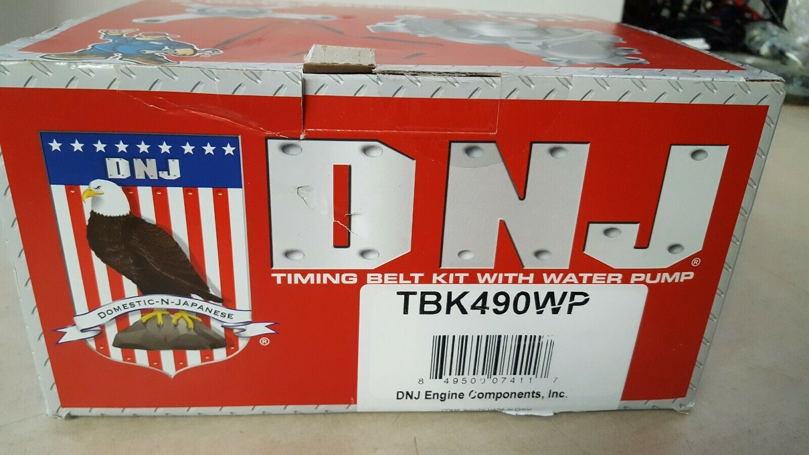 DNJ TBK490WP Timing Belt Kit With Water Pump image 2