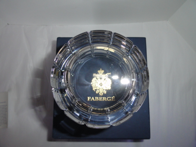 Faberge Metropolitan Clear Pattern Ice Bucket in the original box  image 6