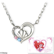 Disney × The Kiss Character Little Mermaid Ariel Sterling Silver Necklac... - $157.41