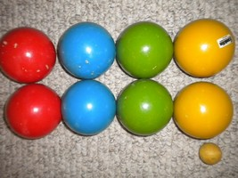 Vintage 1980's The Newport Franklin Bocce Ball Set Imported Italy - $39.59