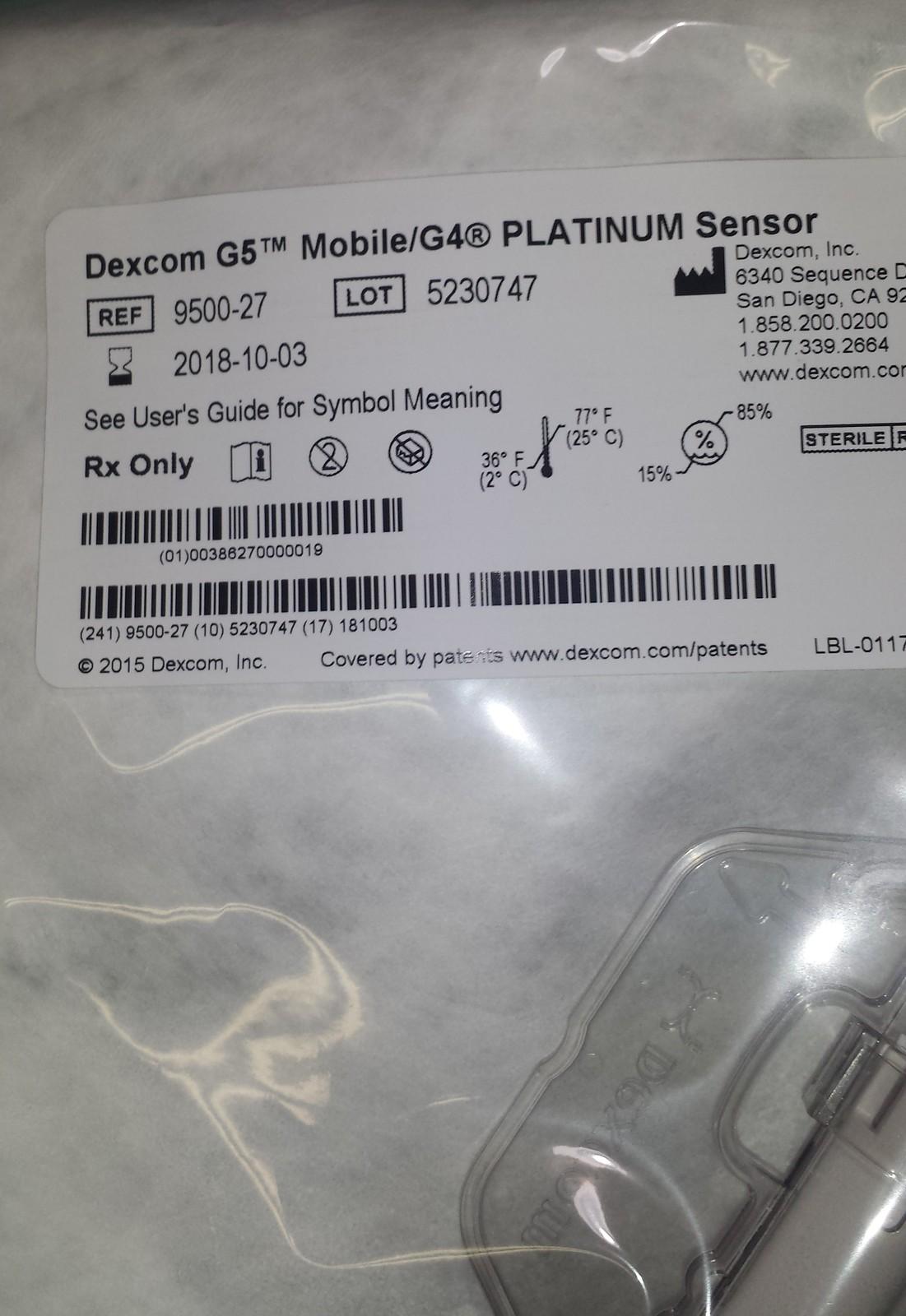 Two Dexcom G5 Mobile G4 Platinum Sensors And Similar Items