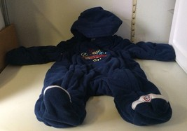 Disney Full Length footed Fleece 0-3 Months Blue 1 pc 95 Sleeper Hood (b... - $7.53