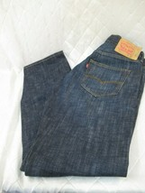 LN Altered Levis 501 Mens Button Fly 36 x 32 Dark Blue Denim fits 35 waist - $36.39
