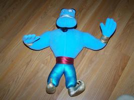 "Disney Aladdin 16"" Plush Genie Doll 1992 Mattel Bendable Blue Stuffed An... - $32.00"
