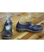 El Naturalista 39 Brown Leather Clogs Mary Jane Yggdrasil N095 Spain - $49.04