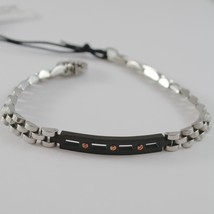 STAINLESS BURNISHER WHITE & ROSE STEEL ONDULATE BRACELET, 4US BY CESARE PACIOTTI image 1