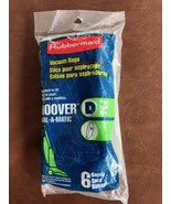 Rubbermaid Hoover Type D Vacuum Cleaner Bags BRAND NEW  Package - $12.86