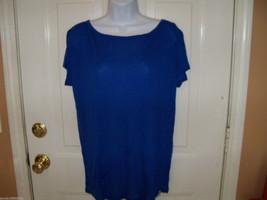 Hollister Blue Back Scoop Shirt Size L Women's NEW - $18.72