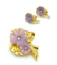 1997 Trifari TM Limited Edition Purple Rhinestone Hibiscus Flower Brooch... - $222.74