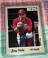 2019 Topps Heritage JOEY VOTTO FRENCH TEXT BACK VARIATION SP! Reds - $34.99