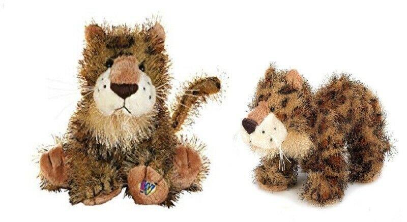 Webkinz & Lil Kinz LEOPARD Jungle Cats Ganz HM031 HS031 Bean Bag Plush Toys Pair