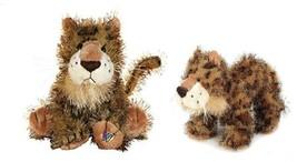 Webkinz & Lil Kinz LEOPARD Jungle Cats Ganz HM031 HS031 Bean Bag Plush Toys Pair image 1