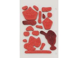 Craft Lounge Life is Sweet Rubber Cling Stamps, Set of 18 #CRM002 image 2