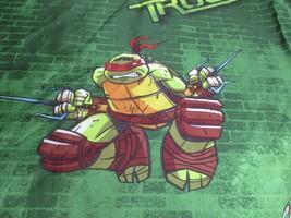 Teenage Mutant Ninja Turtles Bed Sheet Twin Flat & TMNT Turtle Power  - $14.84