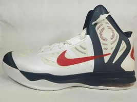NIB NIKE AIR MAX HYPER BASKETBALL WHITE MEN'S SHOES SIZE 12 524851 100 - $32.07