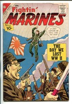 FIGHTIN' MARINES #46 1962-CHARLTON-WWII-PARACHUTE COVER-DAY WE LOST WWII... - $55.48