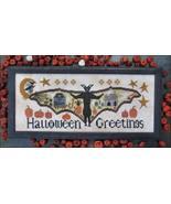 Halloween Greetings cross stitch chart Kathy Barrick Designs  - $10.80