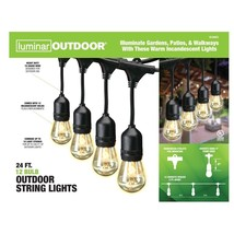 Luminar Outdoor 24 Ft 12 Bulb Outdoor String Lights on patio porche walk... - $48.05