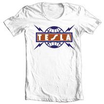 Tesla T-shirt 80's heavy metal retro classic rock concert cotton graphic tee image 2