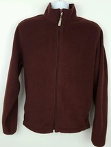 Woolrich Men's Brown Full Zip Fleece Jacket Medium - $29.44