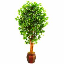 6' Ficus Artificial Tree In Decorative Planter - $201.90