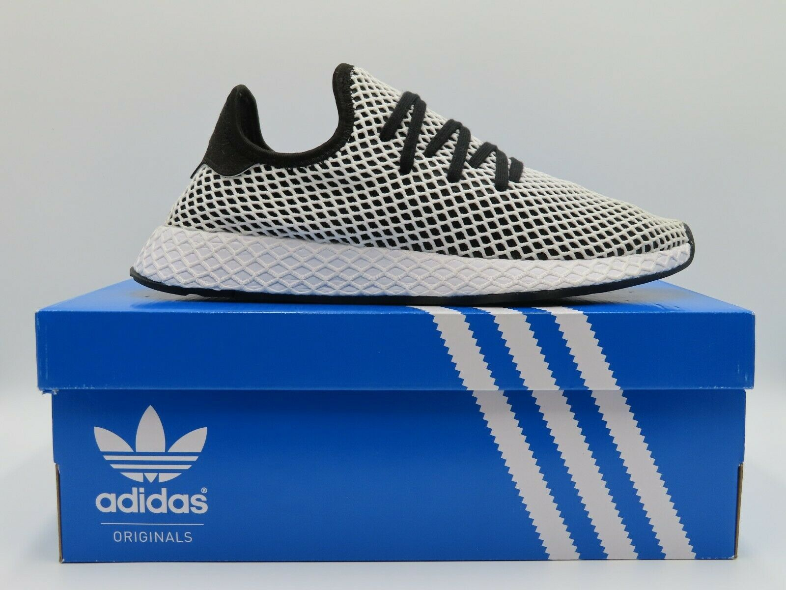 Adidas Deerupt Runner Black White Men Running Shoes Sneakers CQ2626