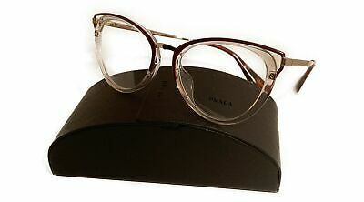 Prada Women's Red Burgundy Glasses with case VPR 53U-F VYT-1O1 52mm