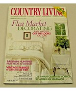 Country Living Magazine April 2001 Flea Market Decorating Vintage Fabrics - $8.35