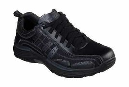 Men's Skechers Relaxed Fit Expended Manden Bicycle Toe Shoe Black - $111.05