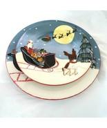 Sakura David Carter Brown Merry Christmas Holiday Dog Santa Dinner & Sal... - $19.79