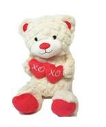 "Animal Adventure Plush Teddy Bear XOXO Heart Valentine 18"" Cream Beige S... - $10.19"
