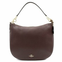 Coach Womens Polished Pebbled Oxblood  Leather Chelsea 32 Hobo Bag 58036 - £189.55 GBP
