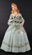 """1963 Vintage 13"""" Porcelain Hand Painted Victorian Woman Statue Signed Do... - $56.99"""