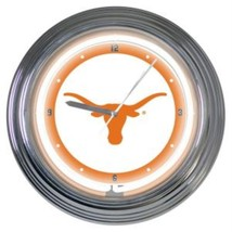 "UNIVERSITY OF TEXAS LONGHORNS NCAA FOOTBALL SPORTS LOGO 15"" NEON WALL CLOCK - €54,12 EUR"